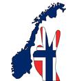 Norwegian hand signal vector image vector image