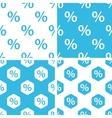 Percent patterns set vector image vector image