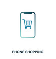 phone shopping icon flat style icon design ui vector image
