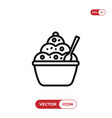 pudding icon vector image vector image