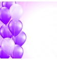 purple balloons vector image