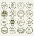 quality grunge stamp collection vector image vector image