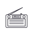 radioradioreceiver line icon sign vector image