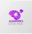 risk factors for alzheimers disease icon design vector image vector image