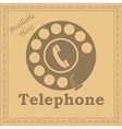 Rotary phone sign vector image vector image