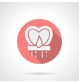 Round pink heart sky lantern flat icon vector image vector image