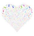 scissors fireworks heart vector image vector image