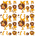 Seamless design with lions vector image vector image