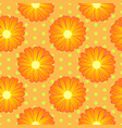 seamless floral pattern with orange marigold vector image