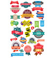 set marketing labels vector image vector image