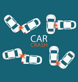 set of car crash and accidents vector image vector image