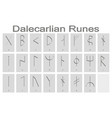 set of monochrome icons with runic alphabet vector image vector image
