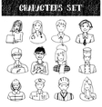 Set of People Occupations Doodles vector image