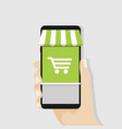 shopping online with mobile business concept vector image vector image