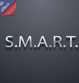 Smart icon symbol 3D style Trendy modern design vector image vector image