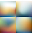 smooth colorful blurry backgrounds collection vector image vector image