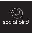 social bird concept design template vector image vector image