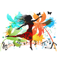 spring dancing vector image vector image