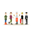 street people flat icon set vector image vector image