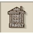 Sweet home wood plate with sign object vector image vector image