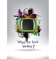 Television Set Background vector image vector image