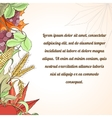 Thanksgiving holiday card vector image