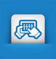 touchscreen mixer icon vector image