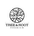 tree roof leaf round circle logo icon vector image
