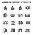 Water treatment tank vector image
