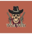Wild west emblem vector image vector image