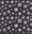 winter snow flakes doodles pattern xmas decor vector image