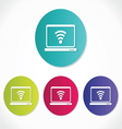 Wireless network icon vector image vector image
