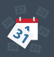 calendar apps icon Last day of the month vector image