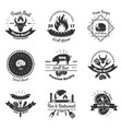 steakhouse vintage emblems set vector image