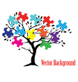 puzzle tree vector image