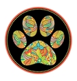 abstract animal paw print vector image vector image