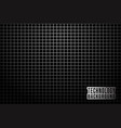 abstract monochrome background with metallic grid vector image