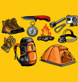 adventure gears in set vector image