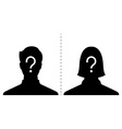 anonymous male and female profile picture emotion vector image vector image
