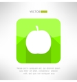 Apple icon in modern clean and simple flat design vector image