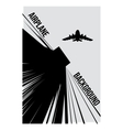 black and white background with airplane vector image