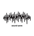 black sound wave isolated design symbol pulse vector image