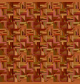 brown seamless striped triangle pattern - mosaic vector image vector image