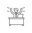 business win line icon concept business win vector image