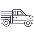 car pickup line icon sign on vector image vector image