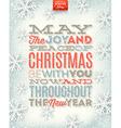 Christmas type design vector image