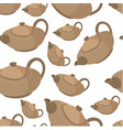 clay teapot for tea serving tableware seamless vector image