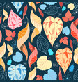 colorful autumn leaves pattern vector image vector image