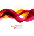 Colorful lines Abstract background vector image vector image
