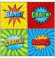 comic book pages bright collection vector image vector image
